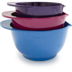 Sur La Table Pink Purple and Teal Mixing Bowl Set at Sur La Table