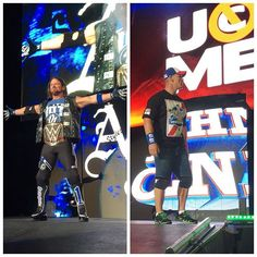 wwe As we end the year with our last #SDLive show at #WWEMiami you have to ask the question... Who will be #TheMan in #2017 @ajstylesp1 or @johncena ?? #SeeYaNextYear #ThankYou AmericanAirlines Arena 2016/12/31 12:16:32