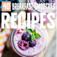 40 Nutrient-Dense Paleo Breakfast Smoothies Click the image for more info. Homemade Smoothies, Apple Smoothies, Healthy Smoothies, Healthy Drinks, Green Smoothies, Breakfast Smoothie Recipes, Paleo Breakfast, Smoothie Detox, Smoothie Bowl