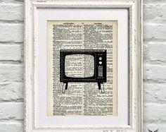 Poster Página Dicionário Vintage TV