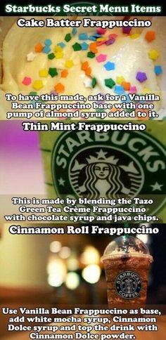 Starbucks secret menu I had the cinnamon roll and the first few sips were good but then it got to be too much