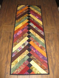 Braided Fall Quilted Table Runner