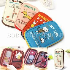 Large Girl Student Cavans Cartoon Pen Pencil Case Stationery Makeup Cosmetic Bag