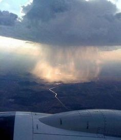 Supercell seen from airplane