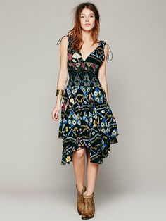 Free People FP ONE Bandhani Wisteria Dress, $128.00