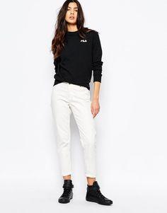 Fila | Fila Oversized Boyfriend Sweatshirt With Small Logo at ASOS