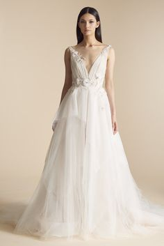 7d15d6dd80 Style 4800 June Allison Webb bridal gown - Cashmere pleated tulle and  Italian net bridal gown