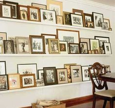 family history display – I love this so very much!  Unfortunately, I do not have photos of most all of my ancestors. :(