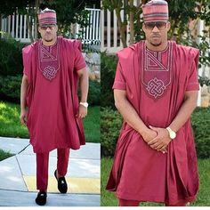agbada for men /African men's clothing / agbada / men's fashion/ men kaftan / vêtement africain / boubou africain - African Dresses Men, African Clothing For Men, African Shirts, African Attire, African Wear, African Style, African Outfits, Nigerian Men Fashion, African Men Fashion
