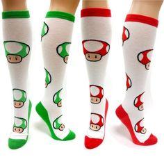 Les chaussettes champignons Nintendo