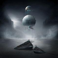 Last Days Of Resistence by on DeviantArt Best Photo Background, Alien Worlds, Futuristic Art, Hippie Art, Science Fiction Art, Fantasy Landscape, Sci Fi Fantasy, Sci Fi Art, Photo Backgrounds