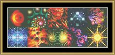 Fractal Montage [NFA-16] - $16.00 : Mystic Stitch Inc, The fine art of counted cross stitch patterns
