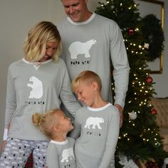 52a1341150 Sleepyheads Holiday Family Matching Polar Bear Pajama PJ Sets - This comfy family  matching pajama set
