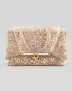 Priscilla Lizard Clutch Bag, Gold by Kara Ross at Bergdorf Goodman.