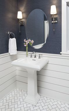 Bathroom decor for the master bathroom renovation. Learn bathroom organization, master bathroom home decor tips, bathroom tile recommendations, master bathroom paint colors, and more. Chevron Floor, Ship Lap Walls, Bathroom Inspiration, Bathroom Ideas, Bathroom Organization, Budget Bathroom, Bathroom Hacks, Shower Bathroom, Bathroom Storage