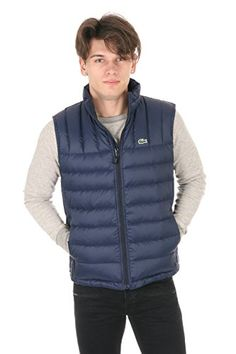 Lacoste Men's Packable Down Vest Navy Blue/Navy Blue Outerwear 52 Lacoste ++You can get best price to buy this with big discount just for you.++
