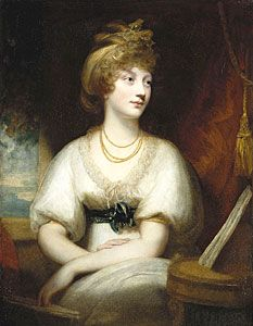 Amelia, Princess of the United Kingdom and Hanover; by William Beechey, c. 1797. She was the daughter of King George III of Great Britain.