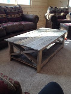 Latest project! Pallet wood coffee table! #diy #coffeetable #palletwood