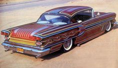 Floyd DeBore's ultra-cool 58 Pontiac - painted by the legendary Larry Watson