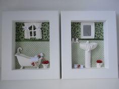 Quadro para lavabo, com fundo em tecido 100% algodão, com peças em resina e flores secas. Pode escolher a cor do tecido.