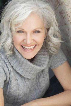 Gray Hairstyles medium haircuts for woman photo going grey Mature Womens Short Haircuts