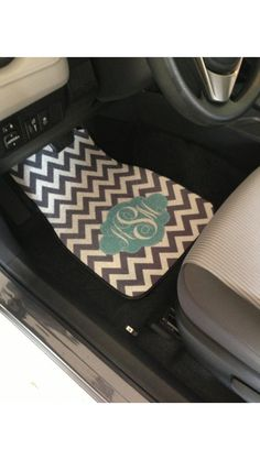Monogram floormats.