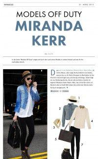 Miranda Kerr – Models Off Duty | Infamous Magazine