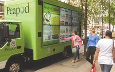 Peapod's Virtual Grocery Store Hits the Road