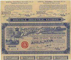 Agricola Industrial Navarra - #scripomarket #scriposigns #scripofilia #scripophily #finanza #finance #collezionismo #collectibles #arte #art #scripoart #scripoarte #borsa #stock #azioni #bonds #obbligazioni