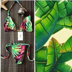 Mi by Mi Swimwear Beautiful Ipanema collection classic triangle top, seamless, very comfy. Sexy cheeky bottom, tie both sides, minimal coverage❤️❤️❤️ Mi by Mi swimwear Swim Bikinis
