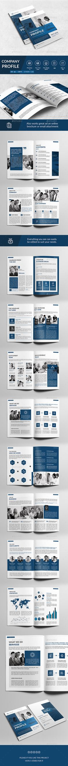 Company Profile Template Vectors Templates Pinterest Company - corporate profile template