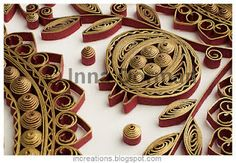 Home blessing in antique quilling style