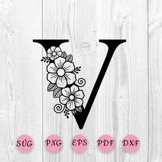 Flower Alphabet, Flower Letters, Flower Svg, Star Flower, Digital Form, Svg Cuts, Cricut Design, Create Your Own, Lettering