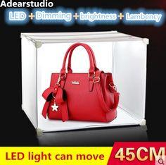81.55$  Watch now - mini light box protatble studio photography led equipment table top lightweight tent kit 45cm*35cm*35cm light   CD50  #shopstyle