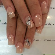 Cute Bow Nail Designs 27 Bow Nail Art When you are looking for inspirations on your nails, you will be amazed by the infinite ideas of . Bow Nail Designs, Colorful Nail Designs, Nails Design, Fancy Nails, Pretty Nails, Nude Nails With Glitter, Bow Nail Art, Bow Art, Hot Nails