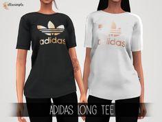 The Sims 4 Elliesimple - Adidas Long Tee