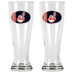 Cleveland Indians 2pc 16oz Pilsner Glass Set - MLB.com Shop