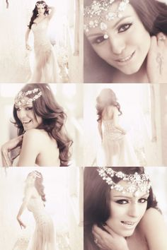 Headpiece & Dress for a simple wedding look!!! In love with the headpiece design for sure!!!
