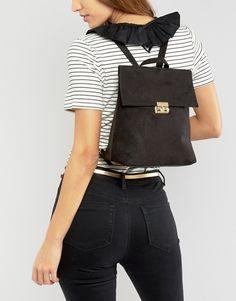 5fb77efcbc20 Shop New Look Mini Fold Over Backpack at ASOS.
