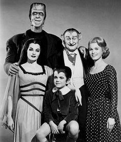 The Munsters: Herman Munster, Lily Munster, Grandpa Munster, Eddie Munster, and Marilyn Munster