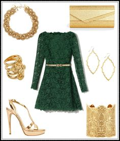 """""""gold with ivy"""" by anjananana on Polyvore"""