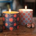Create cute candles with decorative papers