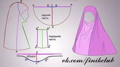 Muslima Hijab with chin coverage.Discover thousands of images about abaya Costume Patterns, Dress Sewing Patterns, Clothing Patterns, Sewing Hacks, Sewing Tutorials, Sewing Projects, Niqab, Jean Diy, Abaya Pattern