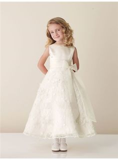 4f5062ea2 Cheap Amazing A-line Ankle-length Sleeveless Appliques & Bowknot Flower  Girl Dress