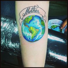 Earth tattoo lol I like this
