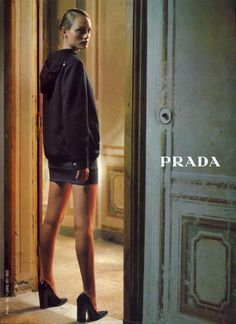 amber valletta for prada fall/winter 1997 by glen luchford