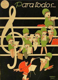 iL Illustration cover by José Carlos (1884-1950), Nov. 6, 1926, Para Todos…, # 412, Brazil. #José_Carlos