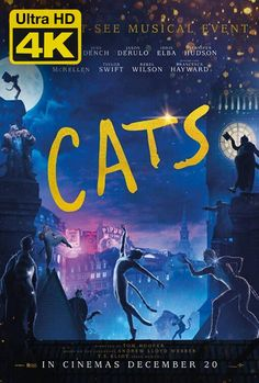 'Cats' - Andrew Lloyd Webber's musical comes to screen as a spectacle starring luminaries such as Taylor Swift, Jennifer Hudson, Idris Elba, and Judi Dench. Latest Movies, New Movies, Movies Online, Movies And Tv Shows, Ian Mckellen, Judi Dench, Jennifer Hudson, Jason Derulo, Idris Elba