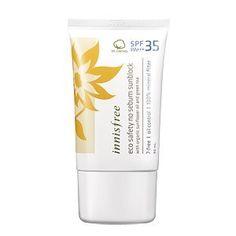 Innisfree Eco Safety No Sebum Sunblock (SPF35/PA+++) 50ml by Innisfree. $16.99