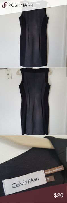 $20 Calvin Klein dress The dresses grey part is business texture but the black part is very soft and stretchy and makes the sides good for stretching. The dress has no stains and is also hand washed and air dried. There is room for bargaining on this dress. Calvin Klein Dresses